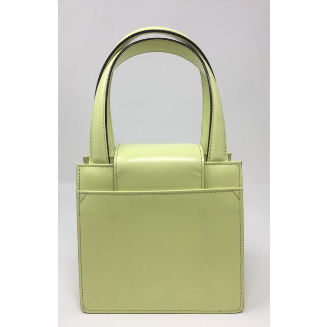 2010s Contemporary Bulgari Box Leather Handbag For Sale - Image 5 of 13