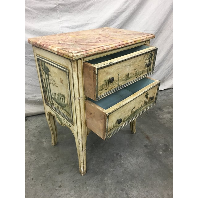 19th C Venetian Petite Painted Chest of Drawers - Commode For Sale - Image 9 of 12