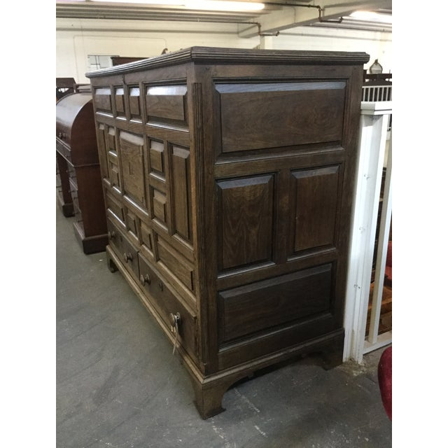 Early 19th Century Welsh Oak Mule Chest Circa 1820 For Sale - Image 5 of 9