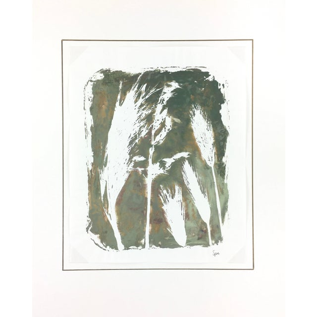 English Abstract Painting - Modern Grass For Sale - Image 4 of 4