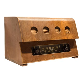 Rare Charles and Ray Eames Molded Plywood Radio For Sale