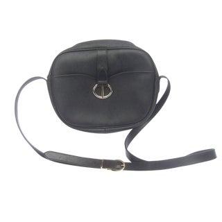 Christian Dior Black Saddle Style Shoulder Bag C 1980s For Sale
