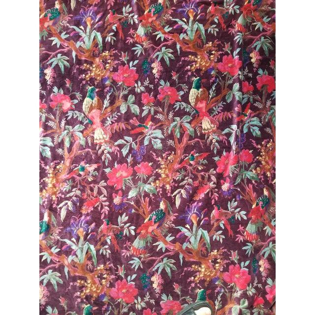 10 Yards Deep Purple/Brown Cotton Chinoiseri Velvet For Sale - Image 4 of 4