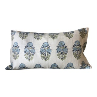 Anglo-Indian Lisa Fine Mughal Flower Pillow For Sale