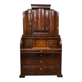 19th Century Danish Biedermeier Bureau Secretary Desk For Sale