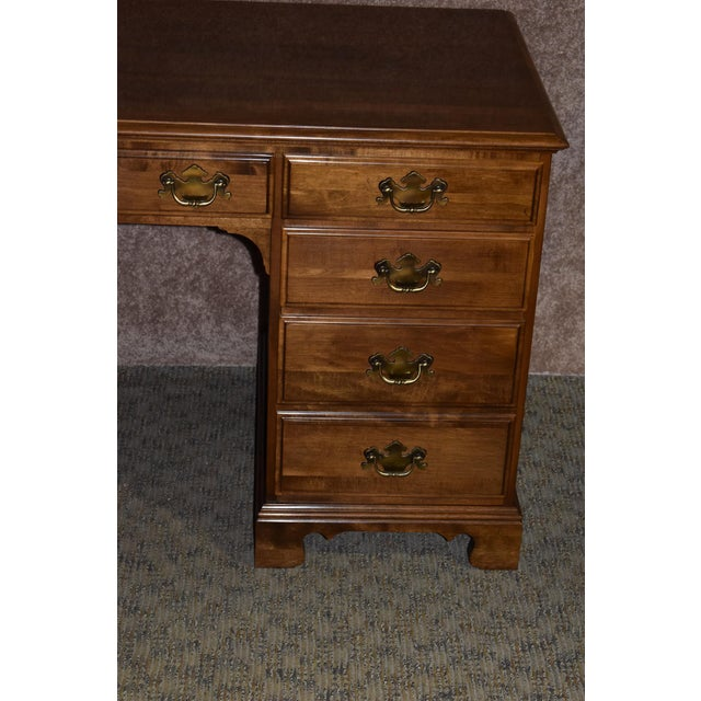 1960s Early American Ethan Allen Executive Desk For Sale - Image 9 of 12