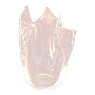 Vintage Murano Venetian Glass Art Vase Signed by Archimede Seguso For Sale