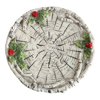 Holiday Holly Berry Plate For Sale