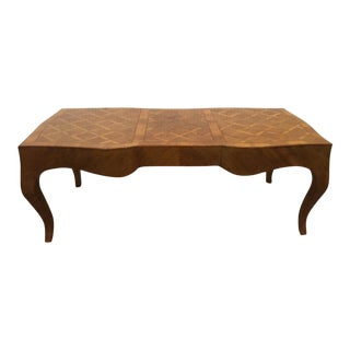 1950s Italian Parquetry Coffee Table For Sale