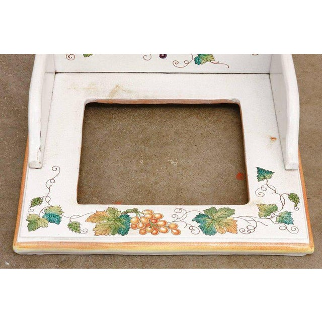Italian Pottery Ceramic Hibachi or Garden Sink Surround For Sale In San Francisco - Image 6 of 13