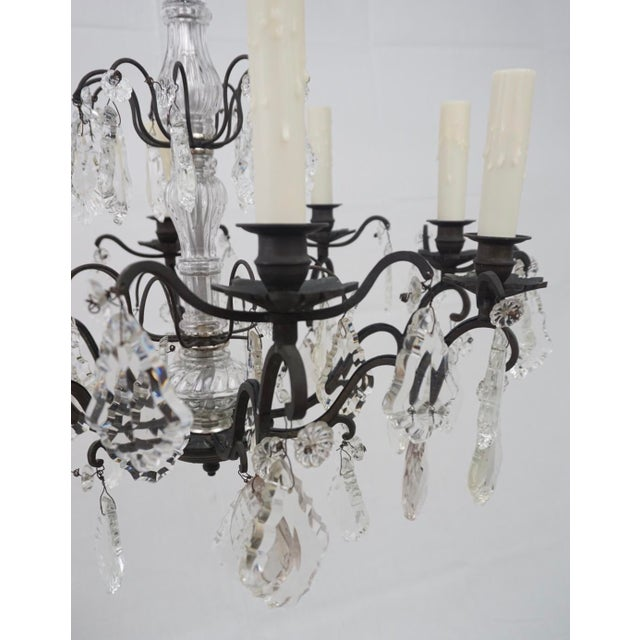19th Century Crystal Chandelier For Sale - Image 4 of 6
