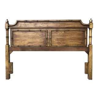 Stanley Hollywood Regency Faux Bamboo Queen Headboard For Sale