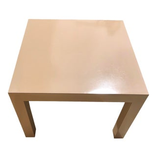 Vintage MCM Hollywood Regency Mod Square Side Table For Sale