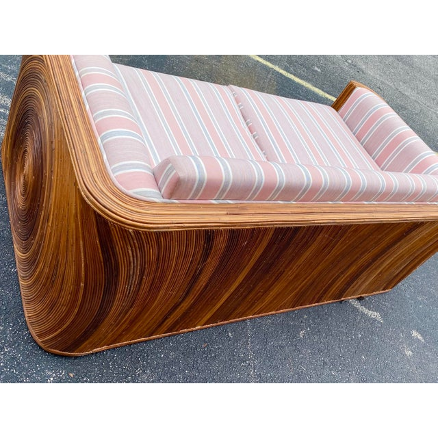 Contemporary Circular Pencil Reed Sofa For Sale - Image 3 of 8