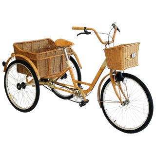 Wicker and Bamboo Tricycle For Sale