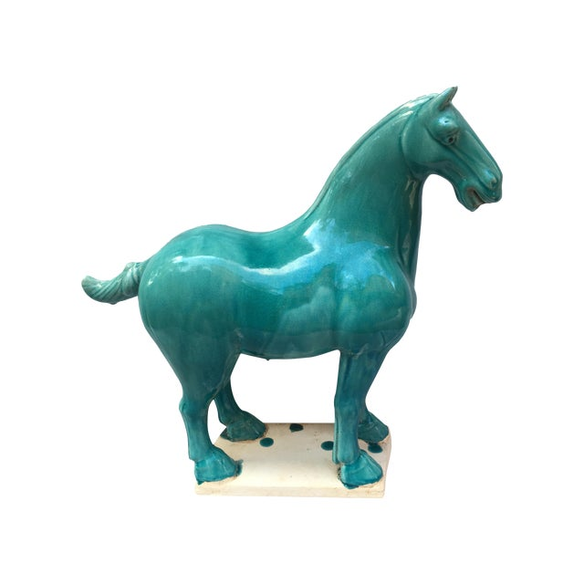 Chinese Tang Style Turquoise Horse - Image 1 of 6