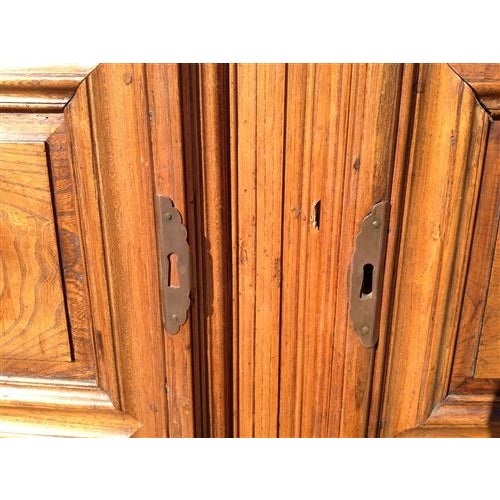 This monumental French oak armoire dates to the late 1700's. It features a rich, warm patina, a large cornice and has...