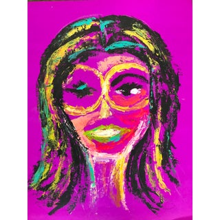 Expressionist Jackie O Portrait Painting For Sale