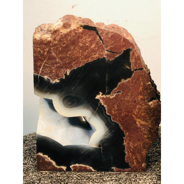 Modern Mid 20th Century Petrified Wood Geode Book Ends - a Pair For Sale - Image 3 of 8