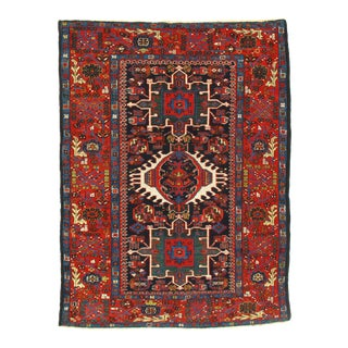 """Late 19th Century Antique Persian Karajeh Rug - 4′7″ × 6′2"""" For Sale"""