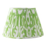 "Image of Soft Ikat in Pear 18"" Lamp Shade, Light Green For Sale"