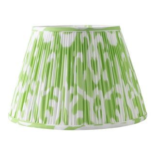 "Soft Ikat in Pear 18"" Lamp Shade, Light Green For Sale"