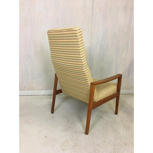 Danish Modern Ulferts Upholstered Lounge Chair With Teak Frame For Sale - Image 3 of 7