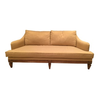 Jeffco Neoclassical Gold Sofa For Sale