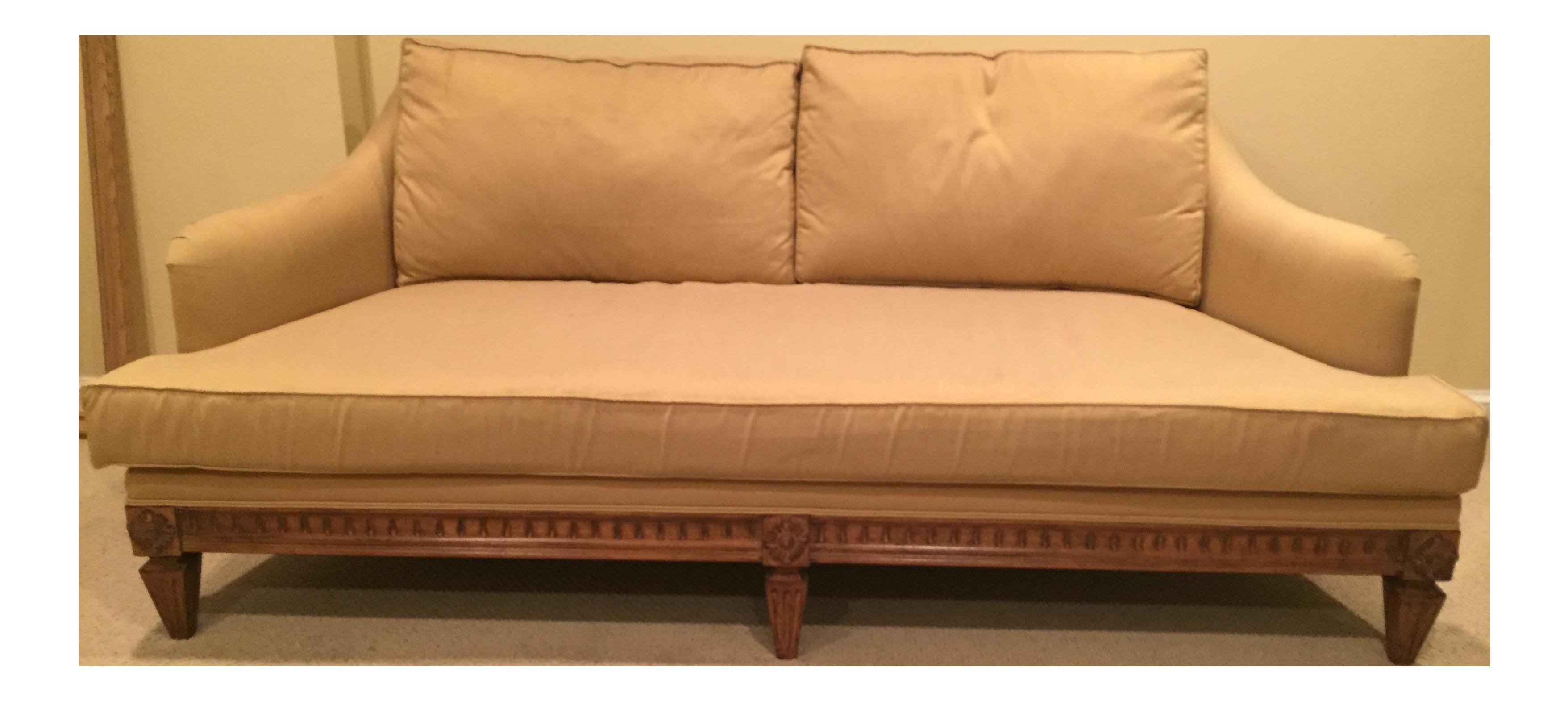 Bon Jeffco Neoclassical Gold Sofa