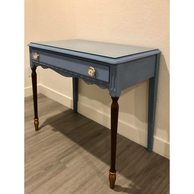Late 20th Century Antique Victorian Refurbished Writing Desk For Sale - Image 5 of 11