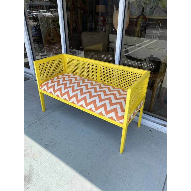 Midcentury Cane Loveseat For Sale - Image 11 of 13