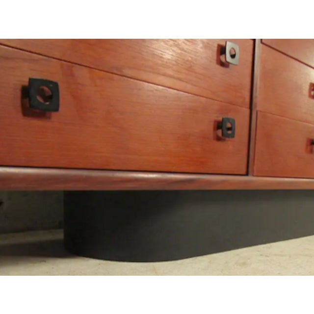1960s Danish Dresser With Leatherette Base For Sale - Image 4 of 6