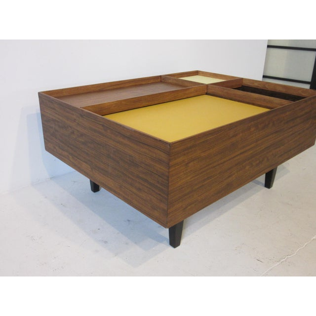 Exotic Glass Coffee Tables: Excellent Milo Baughman Exotic Wood Coffee Table