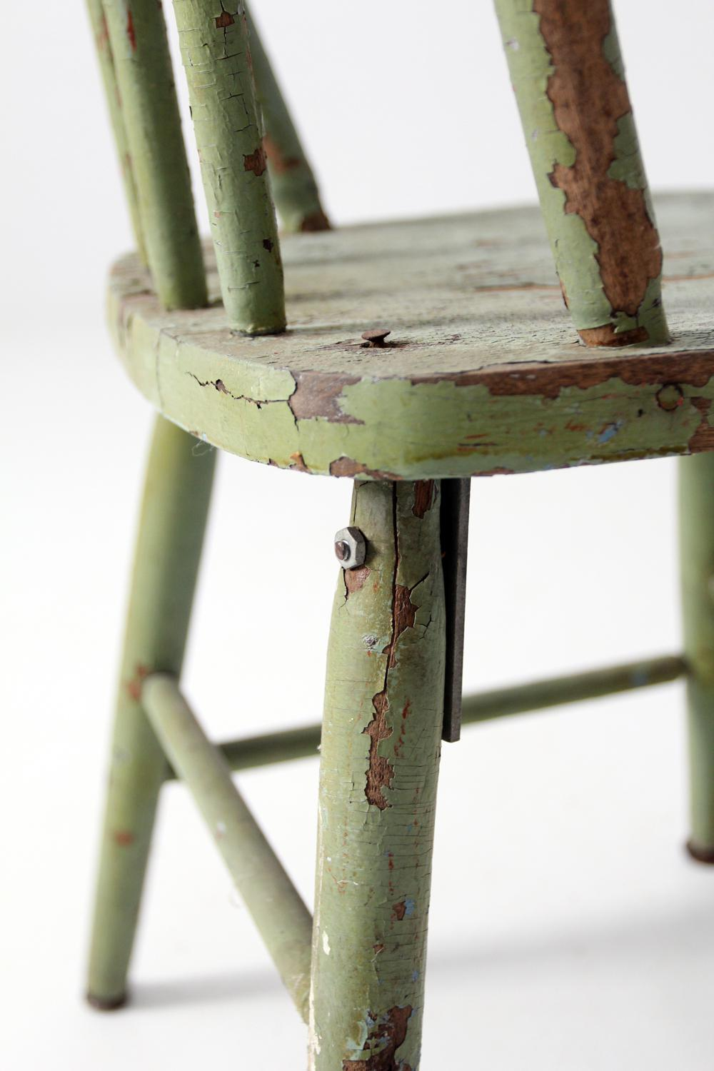 Antique Childrenu0027s Chair With Spindle Back   Image 6 ...