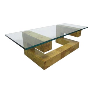 Paul Evans Burl Wood Coffee Table For Sale