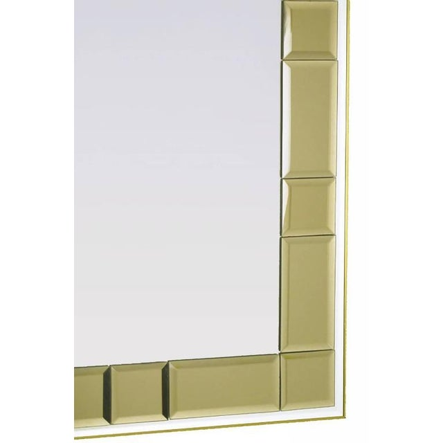 Striking Labarge Wall Mirror with Beveled Smoked Glass Mosaic Border - Image 3 of 5