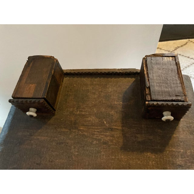 Early 20th Century Antique Tramp Art Box With Drawers For Sale - Image 5 of 7