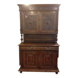 19th Century Antique Belgium Breakfront Cupboard For Sale