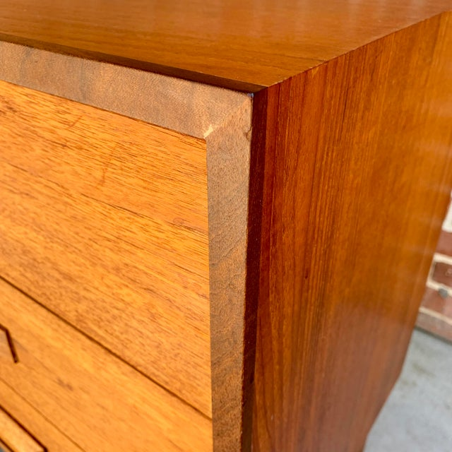 1960s Danish Modern Teak and Rosewood Lowboy Dresser For Sale In Sacramento - Image 6 of 7
