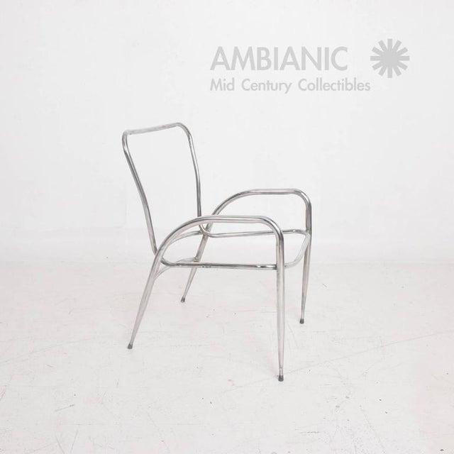 Pair of Sculptural Brown Jordan Aluminum Patio Chairs After Walter Lamb For Sale - Image 9 of 10