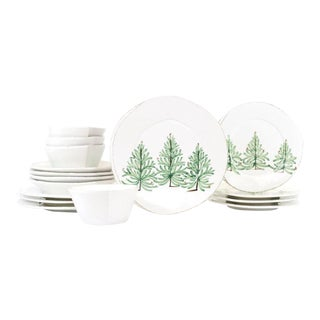 Kenneth Ludwig Chicago Lastra Holiday Place Setting - 16 Piece Set For Sale
