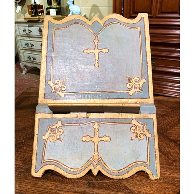 Place your Bible on this antique, baroque book stand. Crafted in Italy circa 1760, the lectern sits on two folding legs...