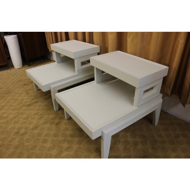 Mid-Century 1950s Step End Tables - A Pair - Image 5 of 9