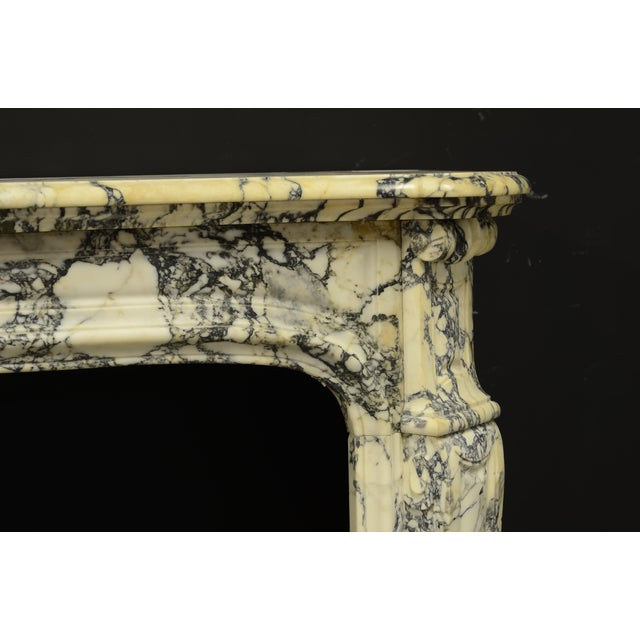 Paonazetto Pompadour Fireplace Mantel For Sale - Image 4 of 12