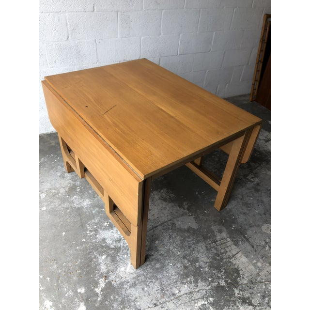 Tan Vintage Mid Century Modern Expanding Dining Table by Edward Wormley for Drexel Furniture For Sale - Image 8 of 13