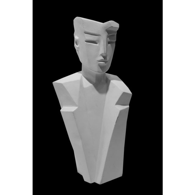 Karin Swildens Karin Swildens White Deco Man and Woman Cast Sculptures For Sale - Image 4 of 13