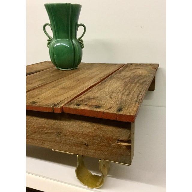 Boho Chic Low Reclaimed Hardwood Meditation Table For Sale - Image 11 of 13