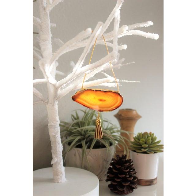 Modern Boho Agate Holiday Ornaments - Set of 6 - Image 10 of 10