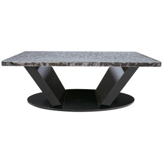 Chic Tin Topped Coffee Table For Sale