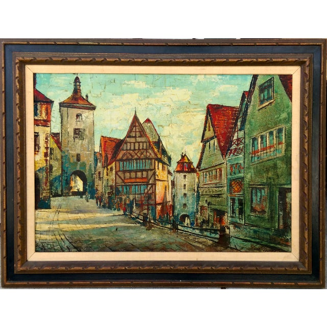 Rustic Street Scene Painting by Geo Koppany - Image 1 of 9